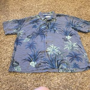 Tommy Bahama silk button front shirt